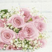 Table Napkins, Bridal Bouquet, size 33x33 cm, 20 pc/ 1 pack