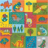 Table Napkins, Baby animals , size 33x33 cm, 20 pc/ 1 pack