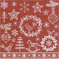 Table Napkins, Christmas spirit, size 33x33 cm, 20 pc/ 1 pack