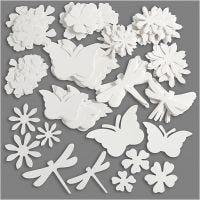 Summer Die Cut, size 4,5-12 cm, 240 g, white, 362 pc/ 1 pack