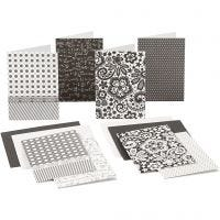 Blank Cards With Envelope, card size 10,5x15 cm, 220 g, 16 pc/ 1 pack