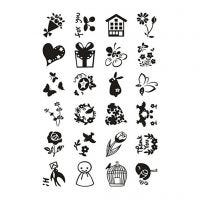 Clear Stamps, small sweet greetings, 11x15,5 cm, 1 sheet