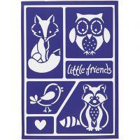 Flexible Stencil , little friends, 21x14,8 cm, 1 pc