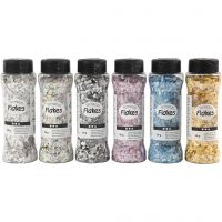 Terrazzo flakes, assorted colours, 6x90 g/ 1 pack