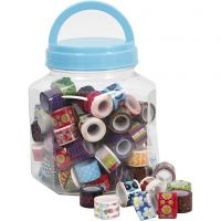 Tape, W: 12 mm, assorted colours, 90x2 m/ 1 tub