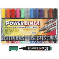 Power Liner, line 1,5-3 mm, assorted colours, 12 pc/ 1 pack