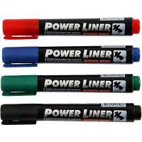 Power Liner, line 1,5-3 mm, black, blue, green, red, 4 pc/ 1 pack