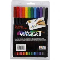 Le Plume II Pens, bold colours, 12 pc/ 1 pack