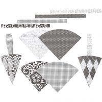 Woven Cones, H: 19,3 cm, W: 9,2 cm, 8 set/ 1 pack
