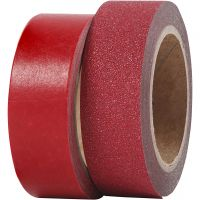 Design Tape, W: 15 mm, red, 2 roll/ 1 pack