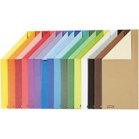 Color Bar Card, A4, 210x297 mm, 250 g, 16 ass sheets/ 1 pack