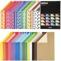 Color Bar Card, A4, 210x297 mm, 250 g, assorted colours, 32x10 sheet/ 1 pack