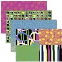 Decoupage Paper, 25x35 cm, 17 g, happy colours, 4x2 sheet/ 1 pack