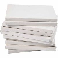Stretched Canvas, depth 1,6 cm, A4, size 21x29,7 cm, 280 g, white, 40 pc/ 1 pack