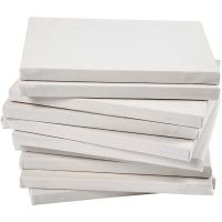 Stretched Canvas, depth 1,6 cm, size 18x24 cm, 280 g, white, 40 pc/ 1 pack