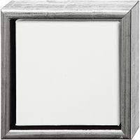 ArtistLine Canvas with frame, depth 3 cm, size 19x19 cm, antique silver, white, 1 pc