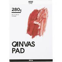 Canvas Block, A4, 280 g, white, 10 sheet/ 1 pc