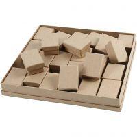 Boxes, H: 3,5 cm, size 5x7 cm, 24 pc/ 1 pack
