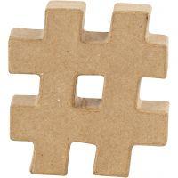 Symbol, #, H: 10 cm, thickness 1,7 cm, 1 pc