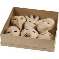Masks, H: 12-21 cm, 60 pc/ 1 pack