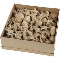 Christmas Ornaments, D: 8 cm, 80 pc/ 1 pack