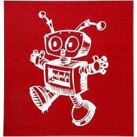 Screen Stencils, robot, 20x22 cm, 1 sheet