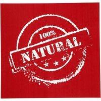 Screen Stencils, natural, 20x22 cm, 1 sheet