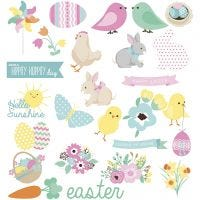 Gift Tags, easter, size 50-115 mm, 250 g, 24x2 pc/ 1 pack