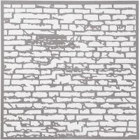 Stencil, brick wall, size 30,5x30,5 cm, thickness 0,31 mm, 1 sheet