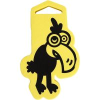 Foam Stamp, Crow, size 66x110 mm, thickness 22 mm, 1 pc