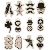 Foam Stamp, size 12x18 cm, thickness 15 mm, 12 pc/ 1 pack