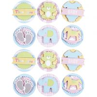3D Baby Stickers, baby, D: 35 mm, 1 sheet