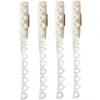 Paper Lace Borders, W: 6 mm, white, 4x2 m/ 1 pack