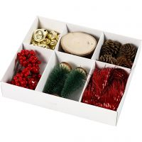 Gift decoration, old-fashioned, 6 asstd./ 1 pack