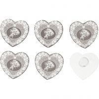 Wooden Stickers, D: 35 mm, 6 pc/ 1 pack