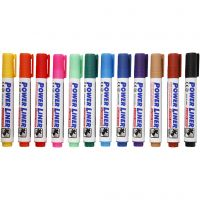 Whiteboard Markers, line 4 mm, assorted colours, 12 pc/ 1 pack
