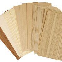 Wood Veneer, 12x22 cm, thickness 0,75 mm, 30 ass sheets/ 1 pack