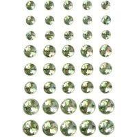 Rhinestones, size 6+8+10 mm, green, 40 pc/ 1 pack