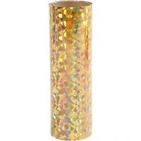 Deco Foil, W: 15,5 cm, thickness 0,02 mm, gold, 50 cm/ 1 roll