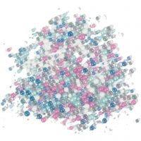 Mini Glass beads, size 0,6-0,8+1,5-2+3 mm, 600 g/ 1 tub