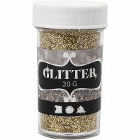 Glitter, gold, 20 g/ 1 tub