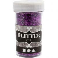 Glitter, purple, 20 g/ 1 tub