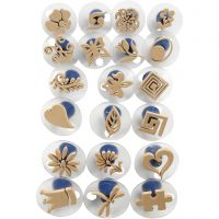 Foam Stamps With Handle, size 3-6 cm, 20 pc/ 1 pack