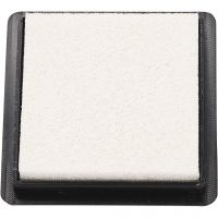 Ink Pad, size 40x40 mm, white, 1 pc
