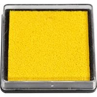 Ink Pad, size 40x40 mm, yellow, 1 pc