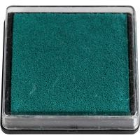 Ink Pad, size 40x40 mm, green, 1 pc