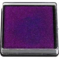 Ink Pad, size 40x40 mm, purple, 1 pc