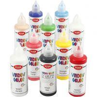Viva Decor Window Color, assorted colours, 10x90 ml/ 1 pack