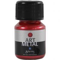 Hobbymaling metallic, lava red, 30 ml/ 1 bottle