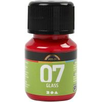 A-Color Glass Paint, red, 30 ml/ 1 bottle